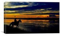 The Sunset Rider, Canvas Print