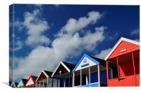 Southwold Beach Huts No.2, Canvas Print