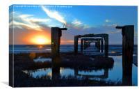 gateway to the horizon, Canvas Print