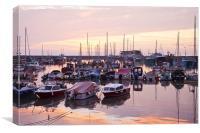 Sunrise at Bridlington Harbour, Canvas Print