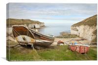 North Landing, Flamborough, Canvas Print