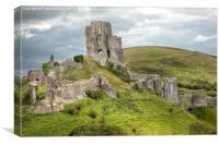 Corfe Castle, Dorset, Canvas Print