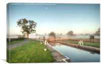 Dawn on the Leeds & Liverpool Canal, Canvas Print