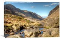 Llanberis Pass, Snowdonia, Canvas Print