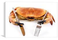 Seafood Dinner, Canvas Print