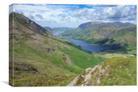 Buttermere and Crummock Water, Canvas Print