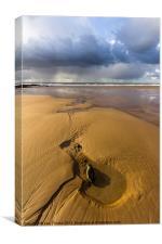 Sand Sea & Sky, Canvas Print