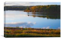 Autumn Lake Before Sunset, Canvas Print