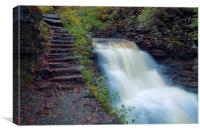 Waterfall Stone Steps, Canvas Print