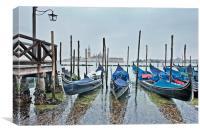 Gondola Parking Venice, Canvas Print