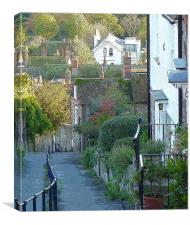 Church Hill . Hythe . Autumn, Canvas Print