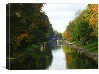 Hythe Royal Military Canal, Canvas Print