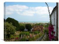 Church Hill- Hythe- in Summer ., Canvas Print