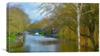 Hythe Royal Military Canal, Canvas Print
