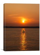 Sailing on the Sunset, Canvas Print