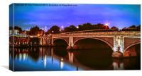 NighTime on Hampton Court Bridge, Canvas Print