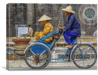 Vietnamese Bicycle Rickshaw, Canvas Print
