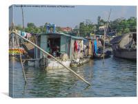 Life on the Mekong River, Canvas Print