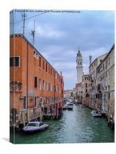 Venetian Canal, Canvas Print