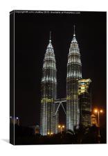 Petronas Towers, Canvas Print