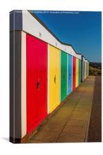 Exmouth Beach Huts, Canvas Print