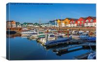 Exmouth Harbour - Lovely Day, Canvas Print
