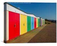 Beach Huts in Exmouth, Canvas Print