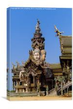Sanctuary of Truth Pattaya Thailand, Canvas Print