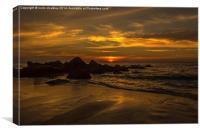Thai Sunset, Canvas Print