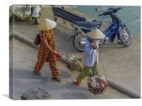 Mekong Life, Canvas Print