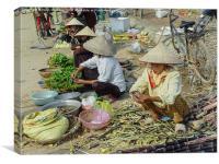 Vietnam Market, Canvas Print