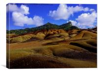 Coloured sand of Chamerel, Mauritius, Canvas Print