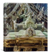 Wooden Sanctuary of Truth, Canvas Print