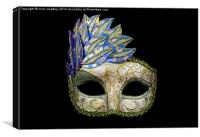 Colourful Venitian Mask, Canvas Print