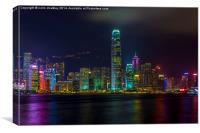 View of Hong Kong from Tsim Sha Tsui, Canvas Print
