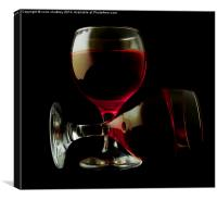 Two Glasses of Red Wine, Canvas Print