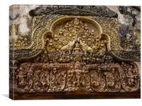 Banteay Srei Temple to Shiva, Canvas Print