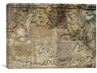Angkor Wat Wall Carvings (External), Canvas Print