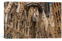 Basílica i Temple Expiatori de la Sagrada Família , Canvas Print