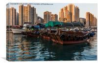 Aberdeen harbour - Hong Kong, Canvas Print