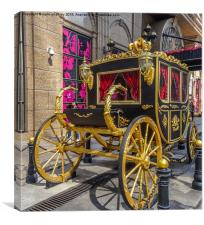 Gold State Coach - Grand Emperor Casino - Macao, Canvas Print