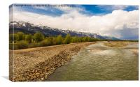Snake River, Jackson Hole, Wyoming, USA, Canvas Print