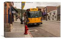 Iconic American School Bus, Canvas Print