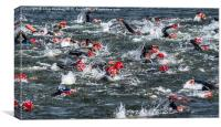Nottingham Triathlon 2015, Canvas Print