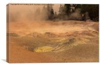 Fountain Paint Pots - Yellowstone National Park, Canvas Print