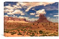 West Mitten Butte - Monument Valley - Arizona USA, Canvas Print