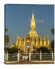 Laos - Pha That Luang, Canvas Print