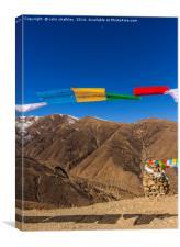 Prayer Flags in Tibet, Canvas Print