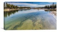 Yellowstone River, Canvas Print