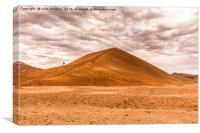 Early Morning Walkers on Dune 45, Canvas Print